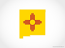 Map of New Mexico - Flag