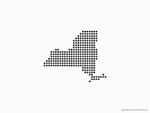 Map of New York - Dots