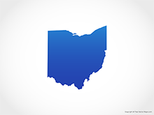 Map of Ohio - Blue