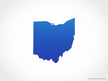 Map of Ohio - Blue