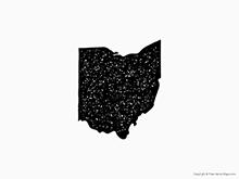 Map of Ohio - Stamp