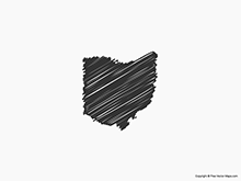 Map of Ohio - Sketch