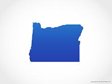 Map of Oregon - Blue