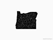 Map of Oregon - Stamp