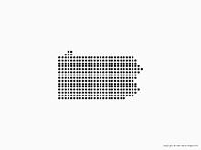 Map of Pennsylvania - Dots