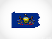 Map of Pennsylvania - Flag