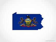 Map of Pennsylvania - Flag
