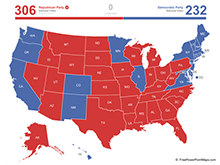 Map of United States Electoral Votes (PowerPoint)