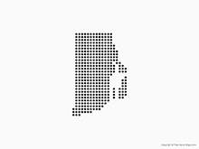Map of Rhode Island - Dots