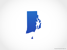 Map of Rhode Island - Blue