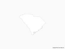 Map of South Carolina - Outline
