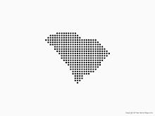 Map of South Carolina - Dots