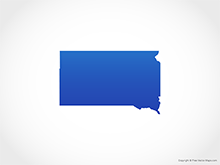 Map of South Dakota - Blue