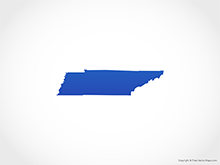 Map of Tennessee - Blue