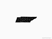 Map of Tennessee - Stamp