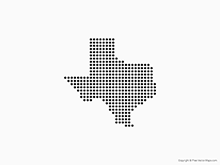 Map of Texas - Dots