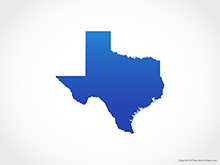Map of Texas - Blue
