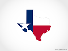 Map of Texas - Flag