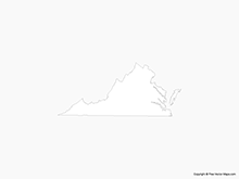 Map of Virginia - Outline