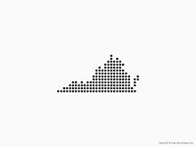 Map of Virginia - Dots
