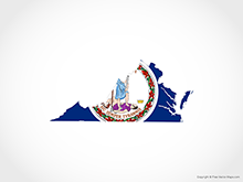 Map of Virginia - Flag