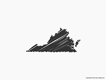 Map of Virginia - Sketch