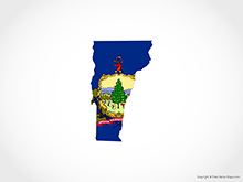Map of Vermont - Flag