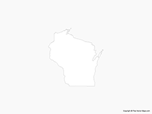 Map of Wisconsin - Outline