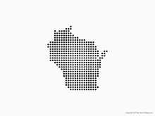 Map of Wisconsin - Dots