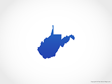 Map of West Virginia - Blue