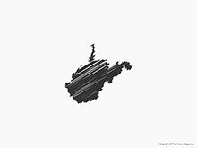 Map of West Virginia - Sketch