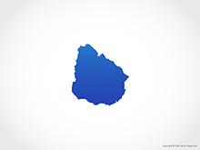 Map of Uruguay - Blue