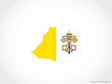 Map of Vatican City - Flag