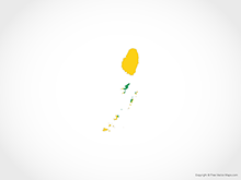 Map of Saint Vincent and Grenadines - Flag