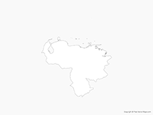 Map of Venezuela - Outline