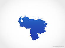 Map of Venezuela - Blue