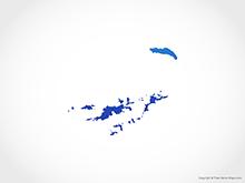 Map of British Virgin Islands - Blue