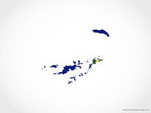Map of British Virgin Islands - Flag