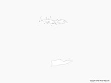 Map of US Virgin Islands - Outline