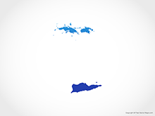 Map of US Virgin Islands - Blue