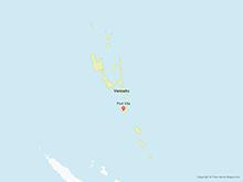 Map of Vanuatu with Provinces