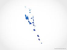 Map of Vanuatu - Blue