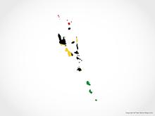 Map of Vanuatu - Flag