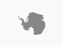 Map of Antarctica with Territories - Single Color
