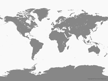 Free Vector Map of World - Single Color