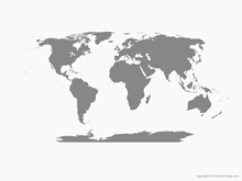 Map of World - Single Color