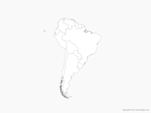 Map of South America with Countries - Outline
