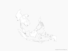 Map of Southeast Asia with Countries - Outline