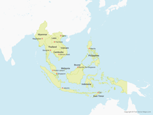Map of Southeast Asia with Countries