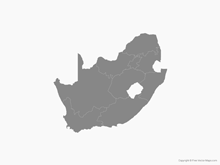 Map of South Africa with Provinces - Single Color